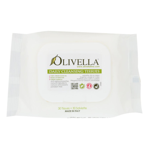 Olivella Daily Facial Cleansing Tissues - 30 Tissues