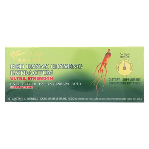 Prince of Peace Red Panax Ginseng Extractum Ultra Strength - 10 Vials on  Appalachian Organics