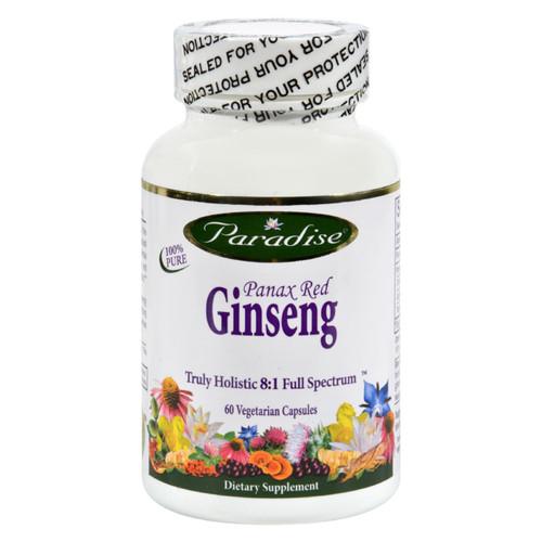 Paradise Herbs Panax Red Ginseng - 60 Vegetarian Capsules on  Appalachian Organics
