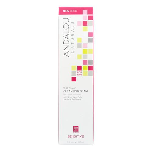 Andalou Naturals Cleansing Foam - 1000 Roses - 5.5 oz