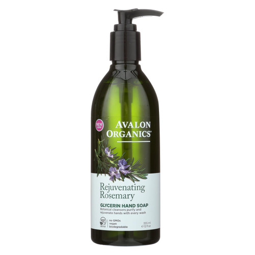 Avalon Organics Glycerin Liquid Hand Soap Rosemary - 12 fl oz