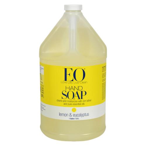 EO Products Liquid Hand Soap Lemon and Eucalyptus - 1 Gallon