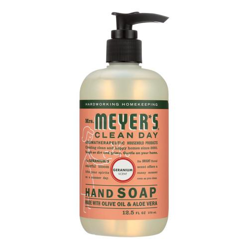 Mrs. Meyer's Liquid Hand Soap - Geranium - Case of 6 - 12.5 oz