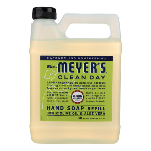 Mrs. Meyer's Liquid Hand Soap Refill - Lemon Verbena - 33 lf oz - Case of 6