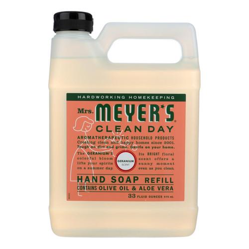 Mrs. Meyer's Liquid Hand Soap Refill - Geranium - 33 lf oz