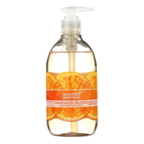 Seventh Generation Hand Wash - Natural - Orange Grpfr - 12 fl oz - 1 Case
