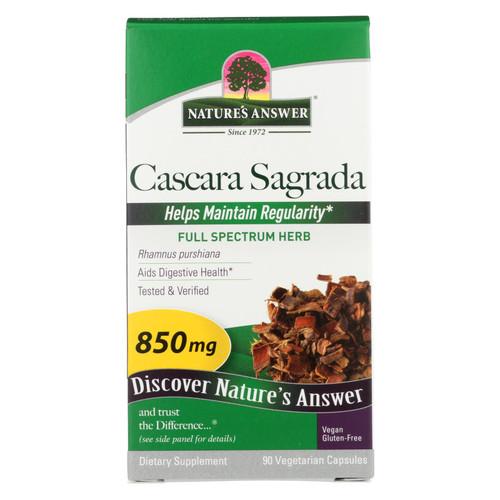 Nature's Answer Cascara Sagrada Bark - 90 Vegetarian Capsules