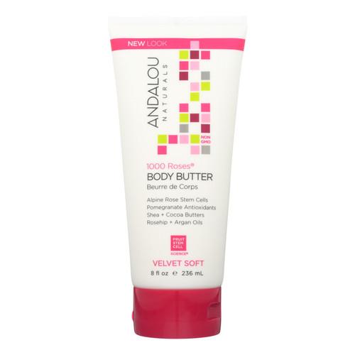 Andalou Naturals Body Butter - 1000 Roses - 8 oz