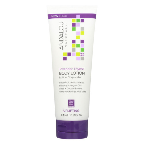 Andalou Naturals Body Lotion - Lavender Thyme Refreshing - 8 fl oz