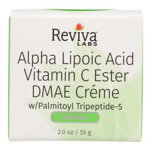 Reviva Labs Alpha Lipoic Acid Vitamin C Ester and DMAE Cream - 2 oz