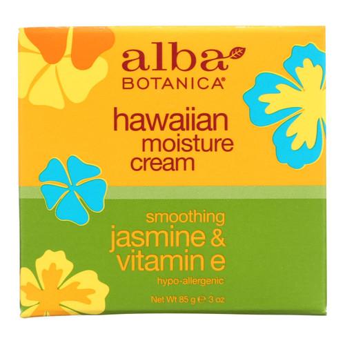 Alba Botanica Hawaiian Moisture Cream Jasmine and Vitamin E - 3 oz