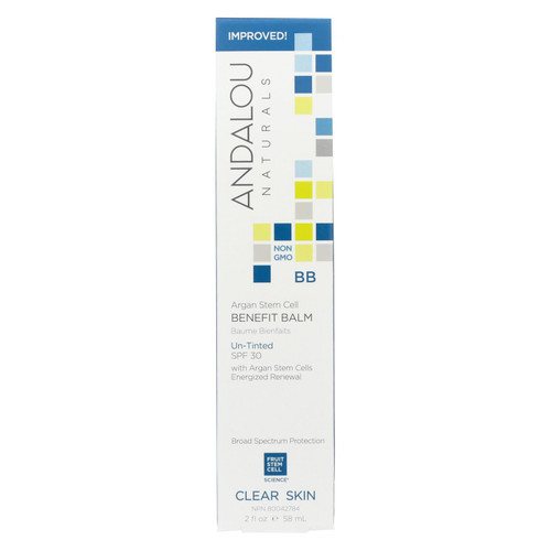 Andalou Naturals Clarifying Oil Control Beauty Balm Un-Tinted with SPF30 - 2 fl oz