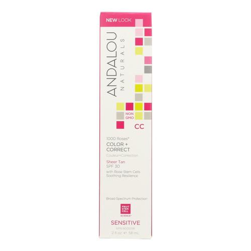 Andalou Naturals Color plus Correct - Sheer SPF 30 - Tan - 2 oz