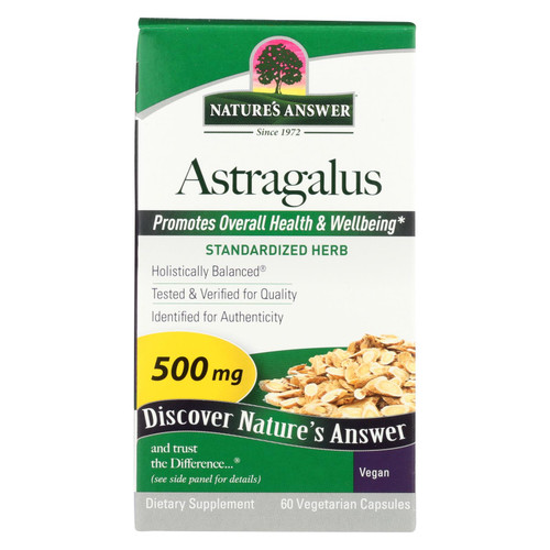 Nature's Answer Astragalus Root Extract - 60 Vegetarian Capsules on  Appalachian Organics