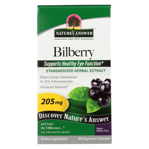 Nature's Answer Bilberry Extract - 90 Vegetarian Capsules on  Appalachian Organics