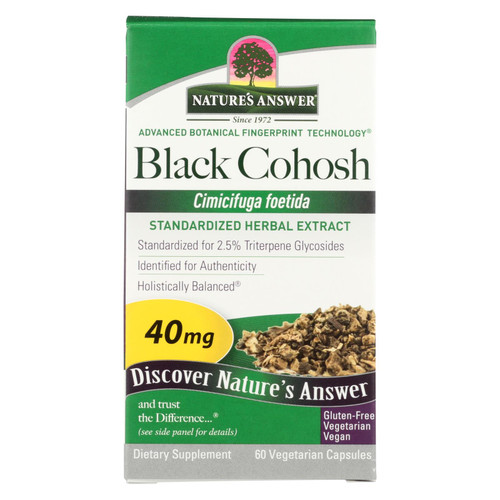 Nature's Answer Black Cohosh Root Extract - 60 Vegetarian Capsules on  Appalachian Organics