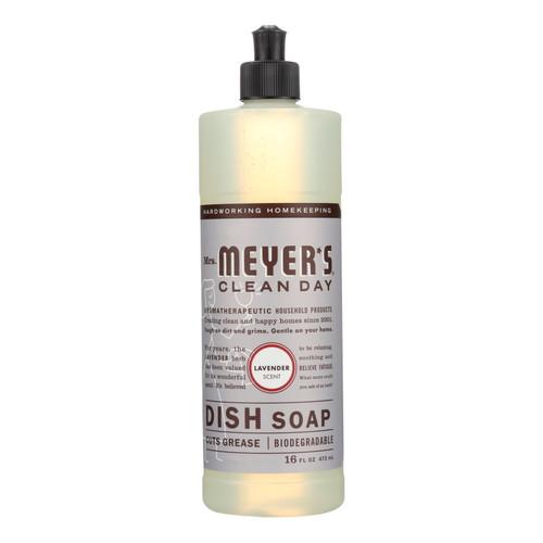 Mrs. Meyer's Liquid Dish Soap - Lavender - Case of 6 - 16 oz