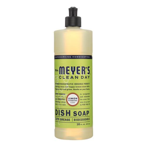 Mrs. Meyer's Liquid Dish Soap - Lemon Verbena - Case of 6 - 16 oz
