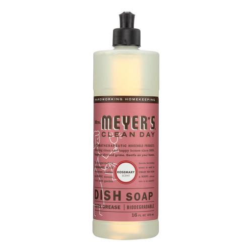 Mrs. Meyer's Liquid Dish Soap - Rosemary - Case of 6 - 16 oz
