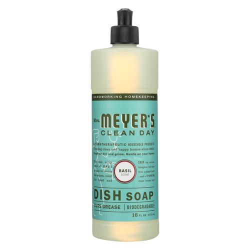 Mrs. Meyer's Liquid Dish Soap - Basil - 16 oz