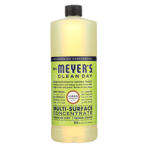 Mrs. Meyer's Multi Surface Concentrate - Lemon Verbena - 32 fl oz - Case of 6