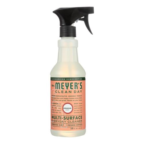 Mrs. Meyer's Multi Surface Spray Cleaner - Geranium - 16 fl oz - Case of 6
