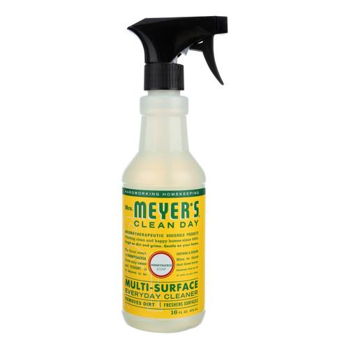Mrs. Meyer's Multi Surface Spray Cleaner - Honeysuckle - 16 fl oz - Case of 6