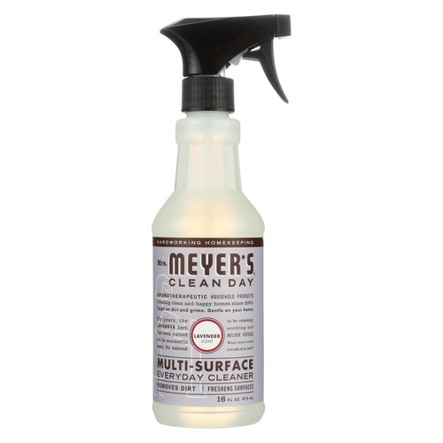 Mrs. Meyer's Multi Surface Spray Cleaner - Lavender - 16 fl oz - Case of 6