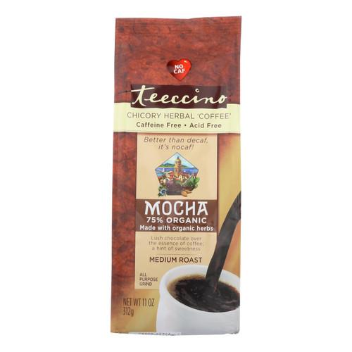 Teeccino Mediterranean Herbal Coffee - Mocha - Medium Roast - Caffeine Free - 11 oz