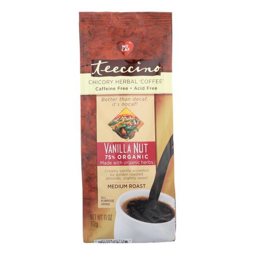 Teeccino Mediterranean Herbal Coffee - Medium Roast - Caffeine Free - Vanilla Nut - 11 oz