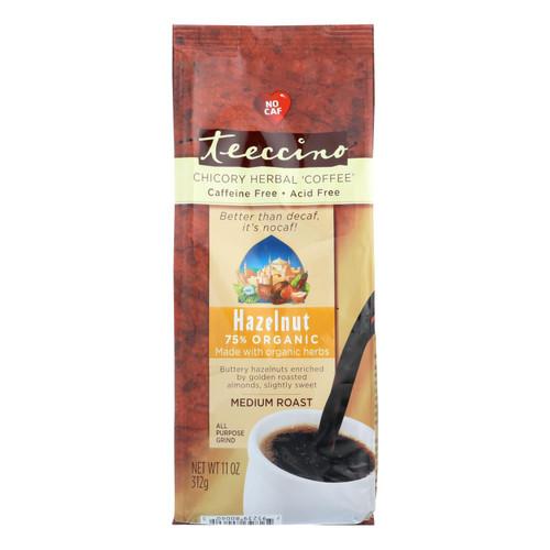 Teeccino Mediterranean Herbal Coffee - Hazelnut - Medium Roast - Caffeine Free - 11 oz