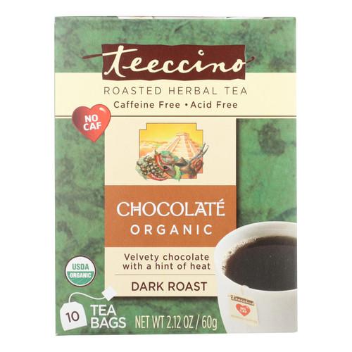 Teeccino Herbal Coffee Chocolate Dark Roast - 10 Tea Bags - Case of 6
