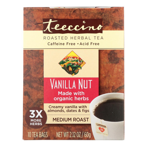 Teeccino Organic Tee Bags - Vanilla - 10 Bags