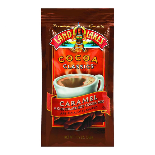 Land O Lakes Cocoa Classic Mix - Caramel and Chocolate - 1.25 oz - Case of 12
