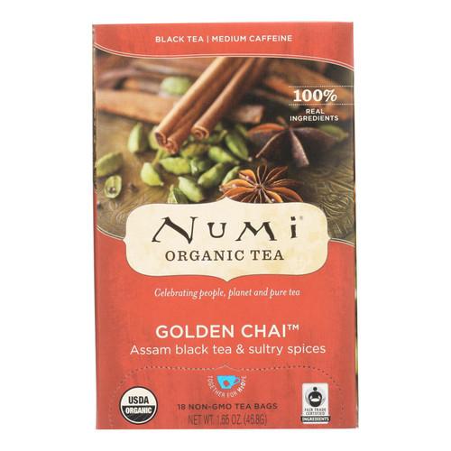 Numi Tea Golden Chai Black Tea - 18 Bags