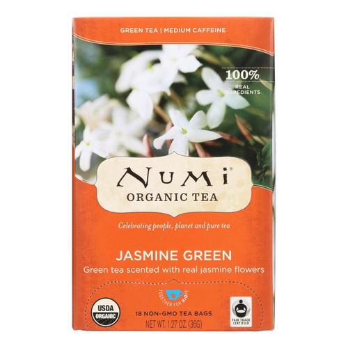 Numi Tea Jasmine Green Tea - Medium Caffeine - 18 Bags