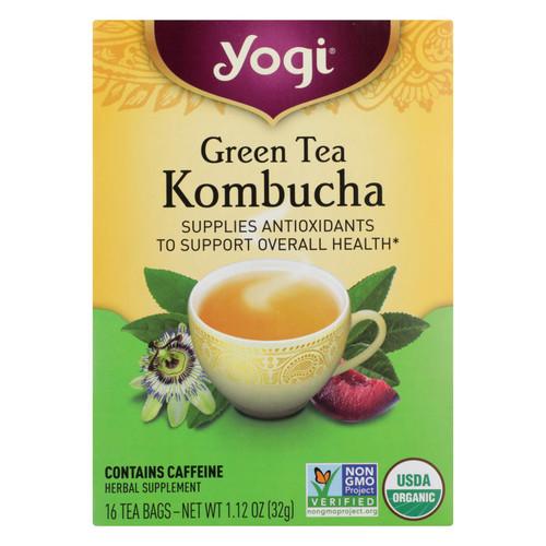 Yogi Tea Green Tea Kombucha - Contains Caffeine - 16 Tea Bags