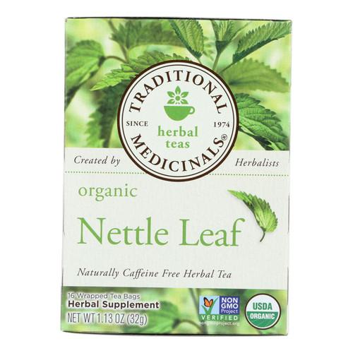 Traditional Medicinals Organic Nettle Leaf Herbal Tea - 16 Tea Bags - Case of 6
