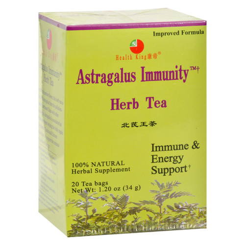 Health King Astragalus Immunity Herb Tea - 20 Tea Bags