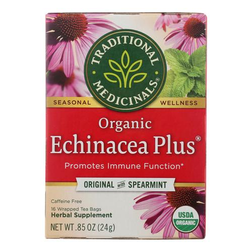 Traditional Medicinals Organic Echinacea Plus Herbal Tea - 16 Tea Bags - Case of 6