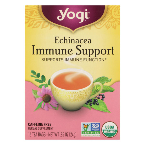 Yogi Tea Echinacea Immune Support - Caffeine Free - 16 Tea Bags
