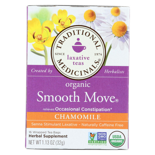 Traditional Medicinals Organic Smooth Tea - Senna Chamomile - 16 Bags