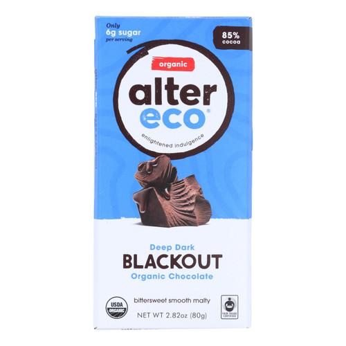 Alter Eco Americas Organic Chocolate Bar - Dark Blackout - 2.82 oz Bars - Case of 12