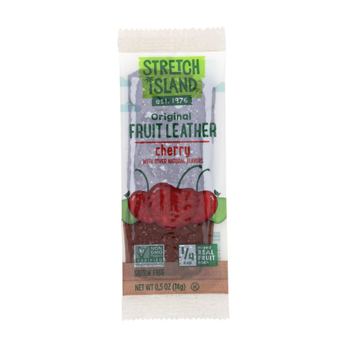 Stretch Island Fruit Leather Strip - Orchard Cherry - .5 oz - Case of 30