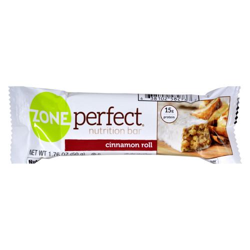 Zone Nutrition Bar - Cinnamon Roll - Case of 12 - 1.76 oz