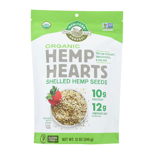 Manitoba Harvest Certified Organic Hemp Hearts Shelled Hemp Seed - 12 oz