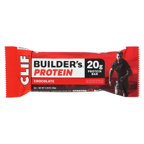 Clif Bar Builder Bar - Chocolate - Case of 12 - 2.4 oz