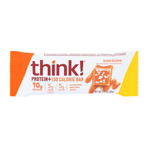 Think Products thinkThin Bar - Ln Protein Fbr - Caramel - 1.41 oz - 1 Case