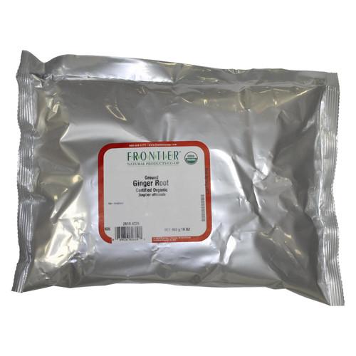 Frontier Herb Ginger Root - Organic - Powder - Ground - Bulk - 1 lb
