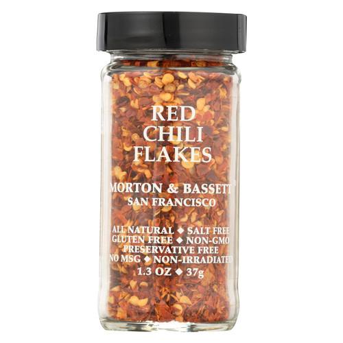 Morton & Bassett Seasoning - Chili Flakes - Red - 1.3 oz - Case of 3